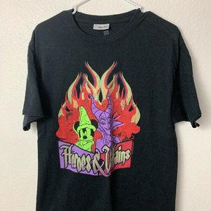 Disney Parks Black Tshirt Heroes & Villains